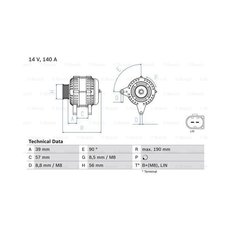 Bosch Lichtmaschine 0986082840 im Autoteile Preiswert Shop kaufen und sparen!