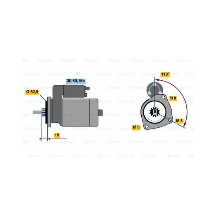 Bosch Anlasser 0986013470 online günstig Autoteile kaufen