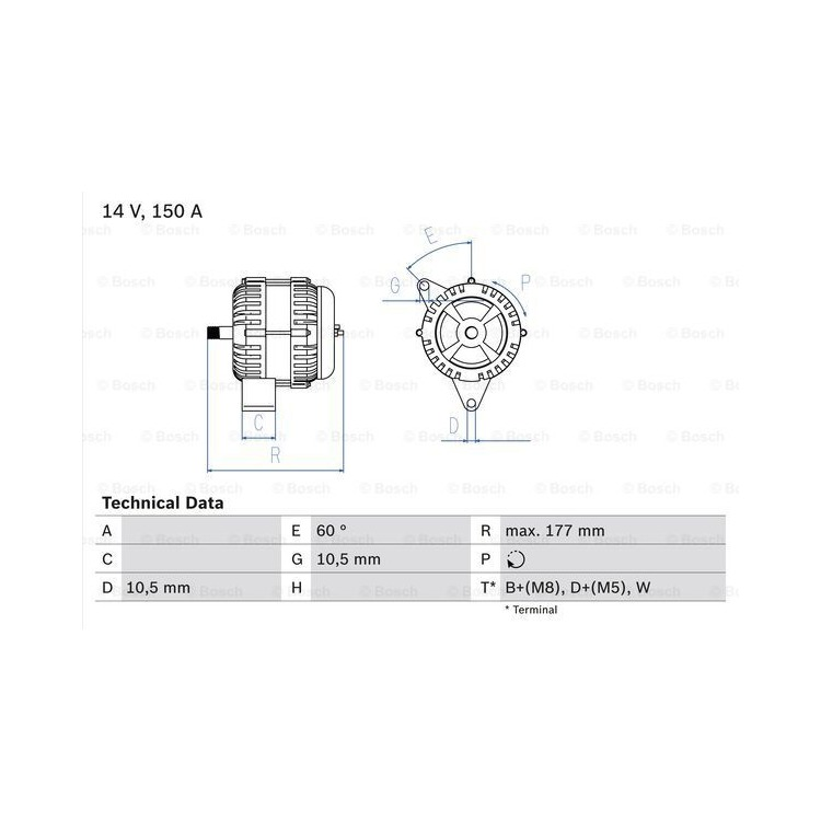 Bosch Lichtmaschine 0986047210 online günstig Autoteile kaufen
