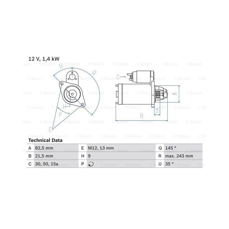 Bosch Anlasser 0986018190 online günstig Autoteile kaufen