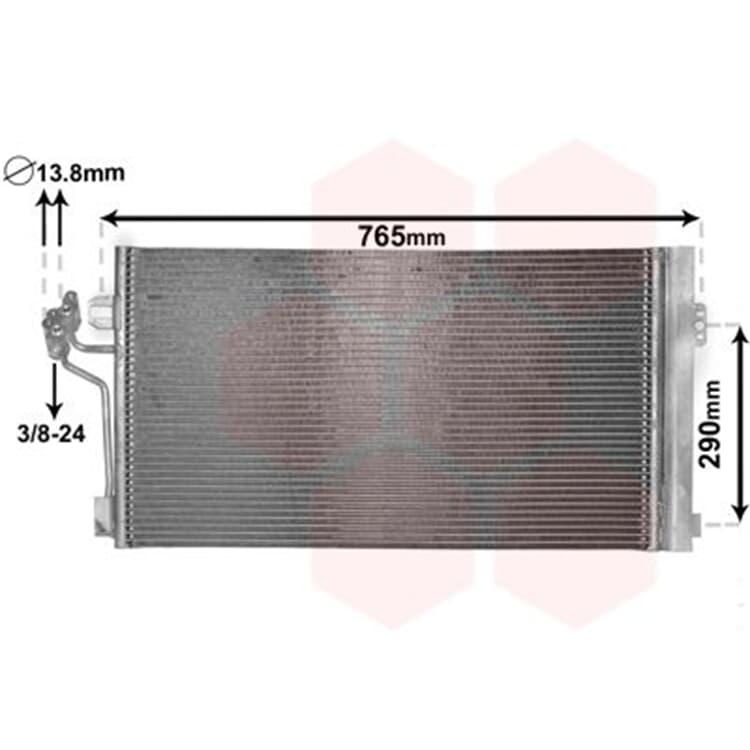 Van Wezel Klimakondensator + Trockner Mercedes Viano Vito Mixto W639 + CDI 4x4