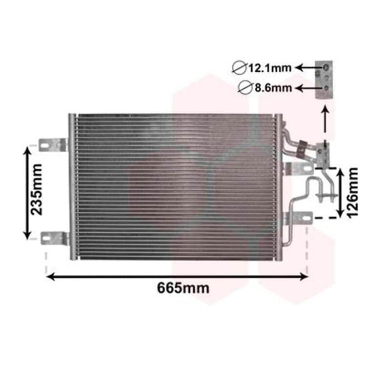 Klimakondensator ohne Trockner Opel Meriva 1,3 1,6 1,7 CDTI + Turbo
