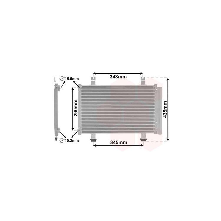 Van Wezel Klimakondensator + Trockner Suzuki Swift III 1,3 - 1,6 + DDiS 4x4