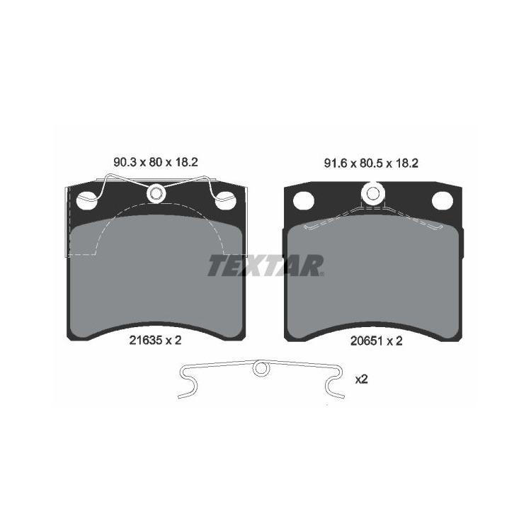 Textar Bremsbeläge vorne VW Transporter T4 1,8-2,8 ohne Sensor Lucas-Bremse