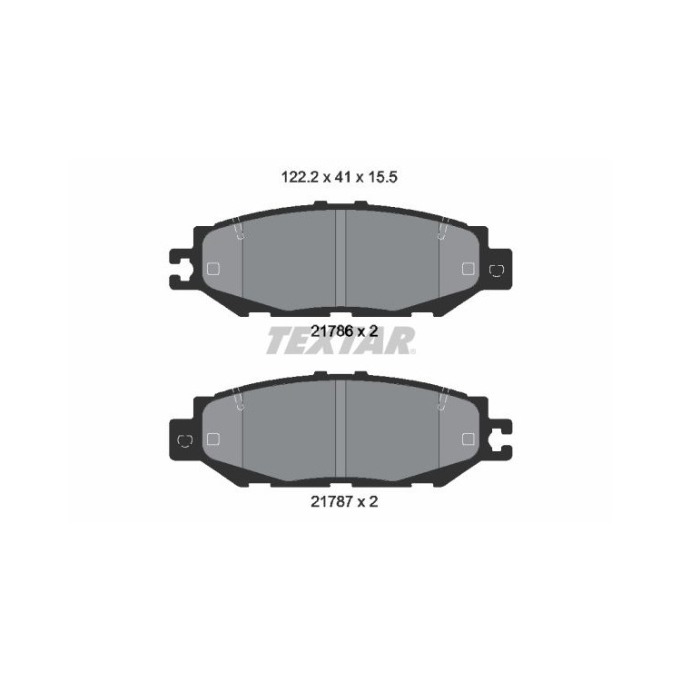 Textar Bremsbeläge hinten Lexus LS 400 ohne Sensor Sumitomo-Bremse