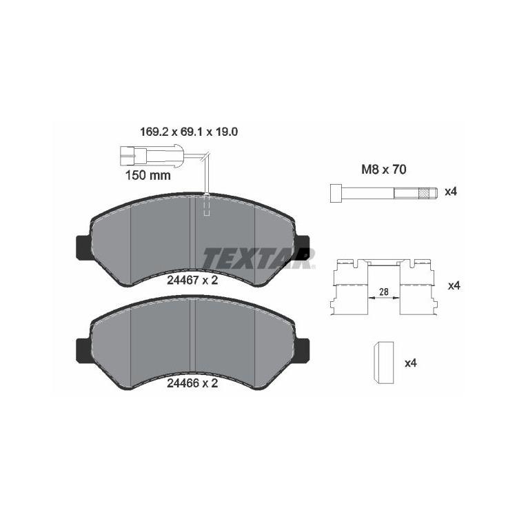 Textar Bremsbeläge + Sensor vorne 2446703 im Autoteile Preiswert Shop kaufen und sparen!