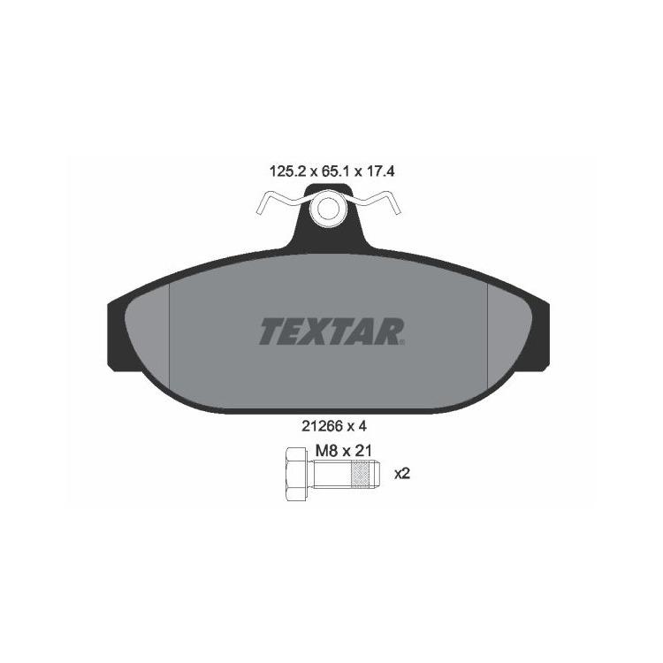 Textar Bremsbeläge vorne Volvo 740 760 940 960 2,0 - 2,9 ohne Sensor Lucas