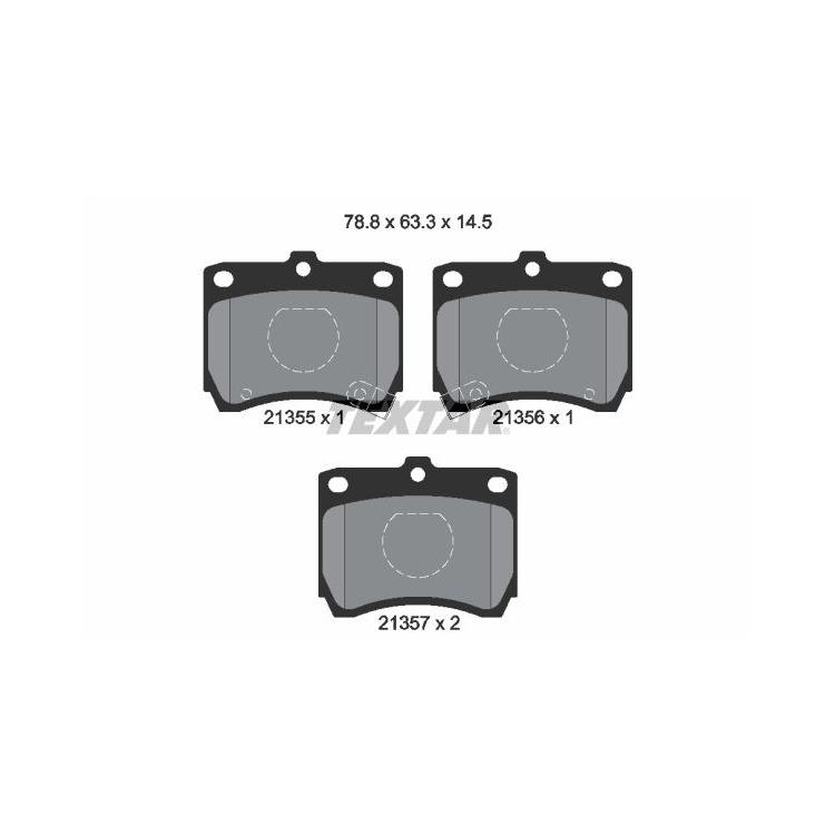 Textar Bremsbeläge vorne 2135501 bei Autoteile Preiswert