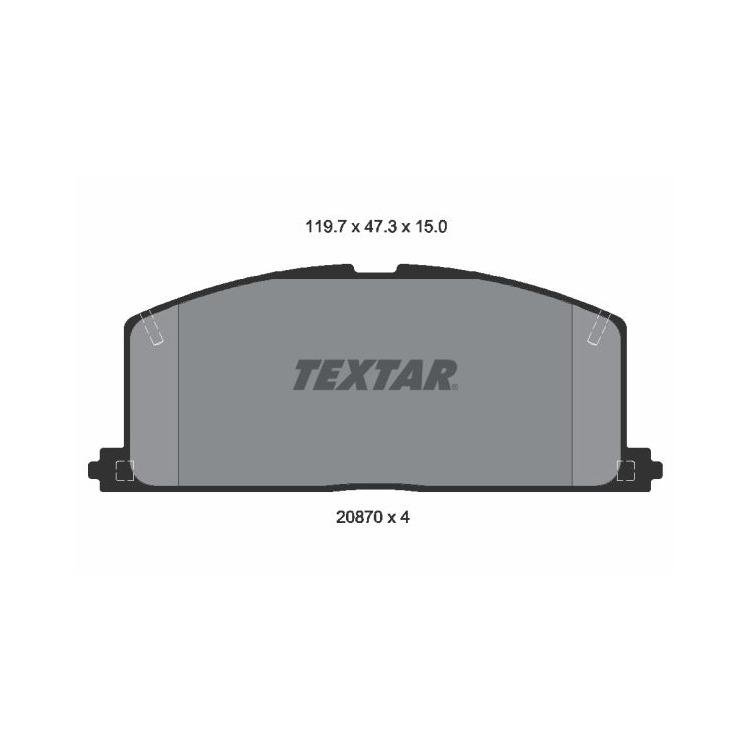 Textar Bremsbeläge vorne Camry Carina Celica Corolla Paseo Starlet Tercel