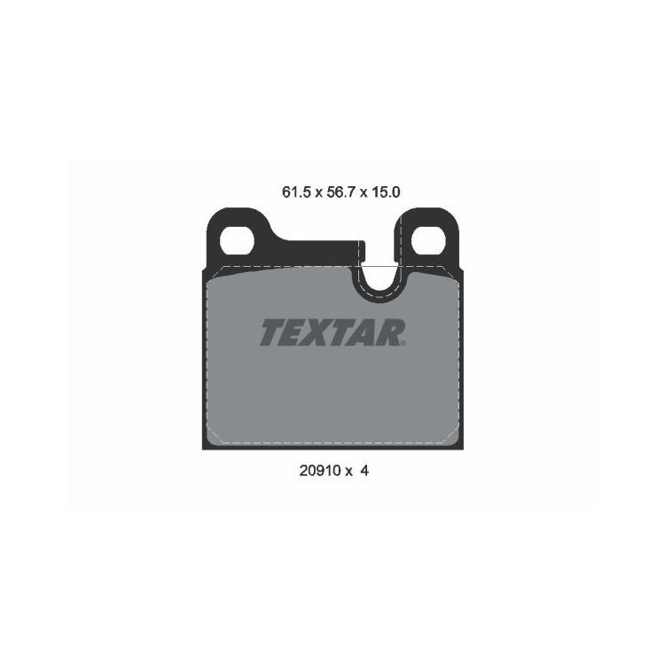 Textar Bremsbeläge hinten 2091001 im Autoteile Preiswert Shop kaufen und sparen!