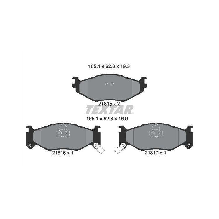Textar Bremsbeläge vorne Chrysler Le Baron Saratoga Voyager I II 2,2-3,3+TD