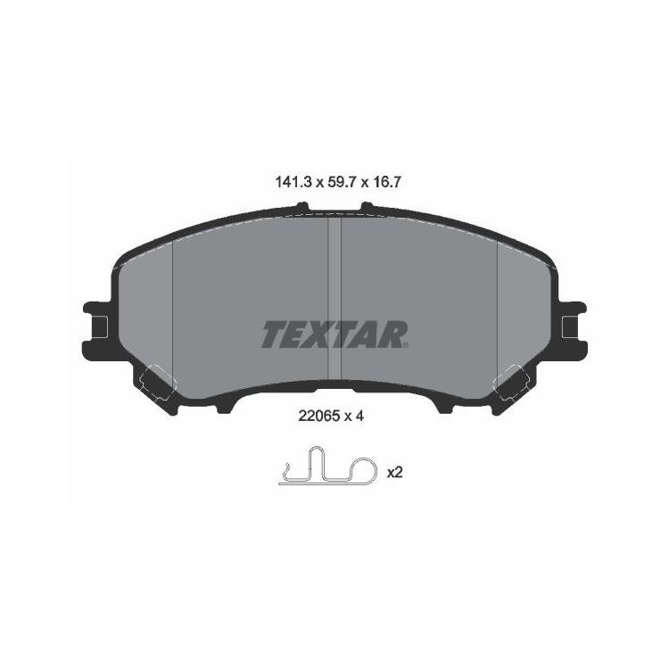 Textar Bremsbeläge vorne Nissan X-Trail T32 1,6 DIG-T 1,6 dCi + 4x4