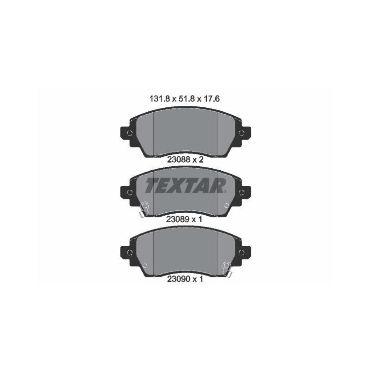 Textar Bremsbeläge vorne Toyota Corolla E11 1,4-2,0 + 16V D Lucas-Bremse