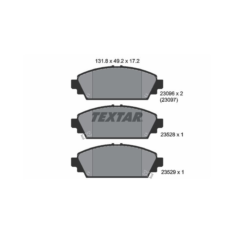 Textar Bremsbeläge vorne Honda Accord VI Civic VII 1,6-1,7 + LS CDTi