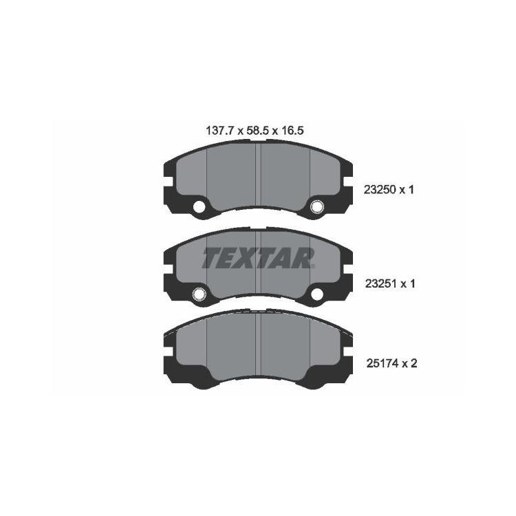 Textar Bremsbeläge vorne Opel Frontera B 2,2-3,2 + DTI ohne Sensor Akebono