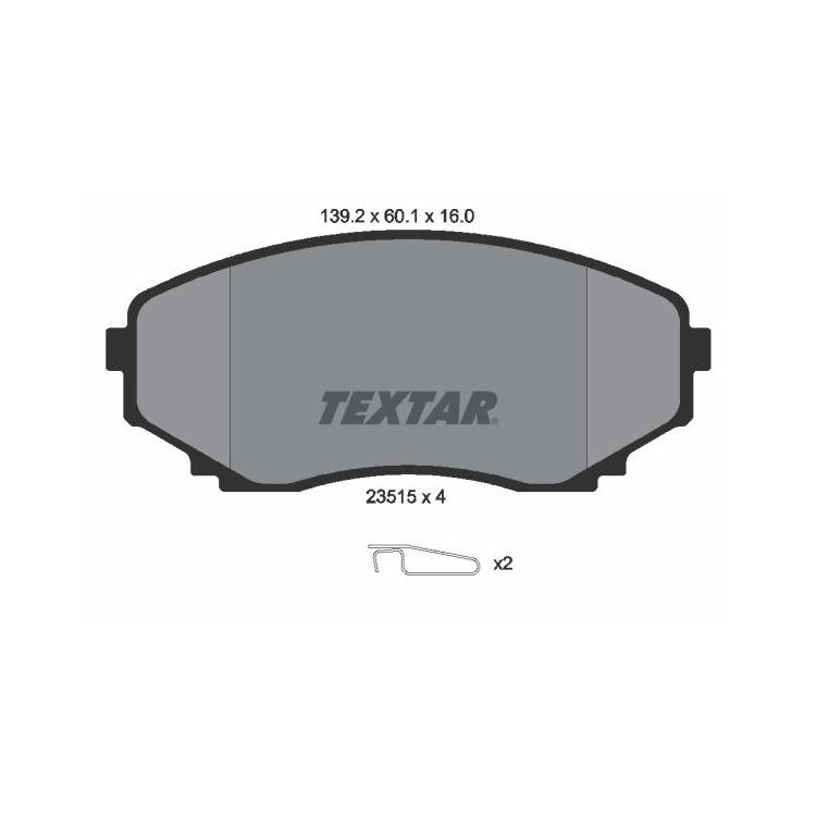 Textar Bremsbeläge vorne 2351501 bei Autoteile Preiswert