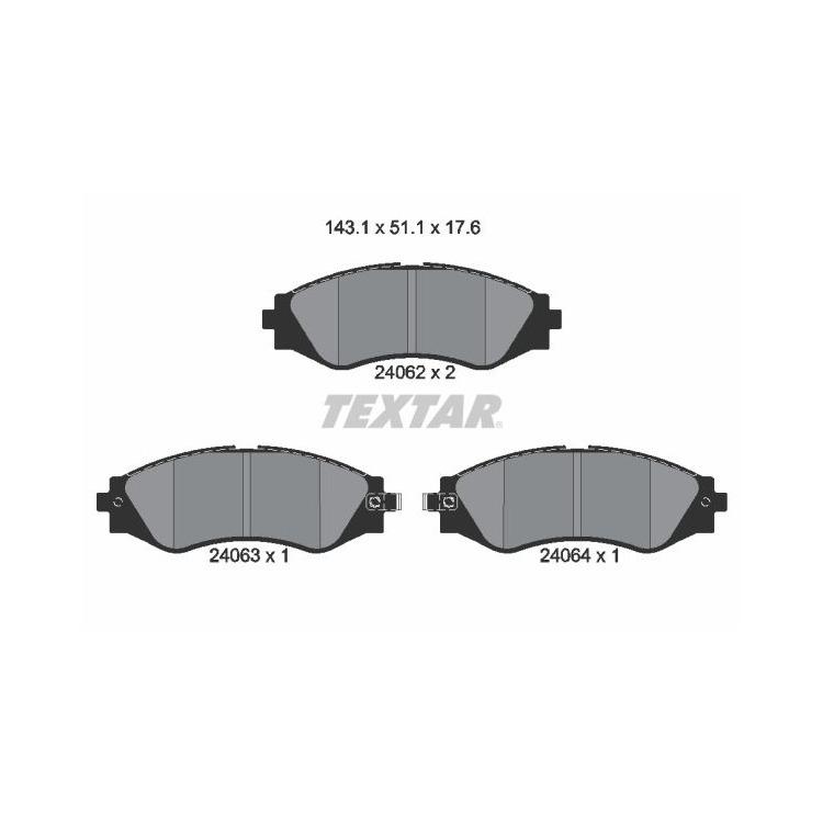 Textar Bremsscheiben + Bremsbeläge vorne Chevrolet Epica Evanda