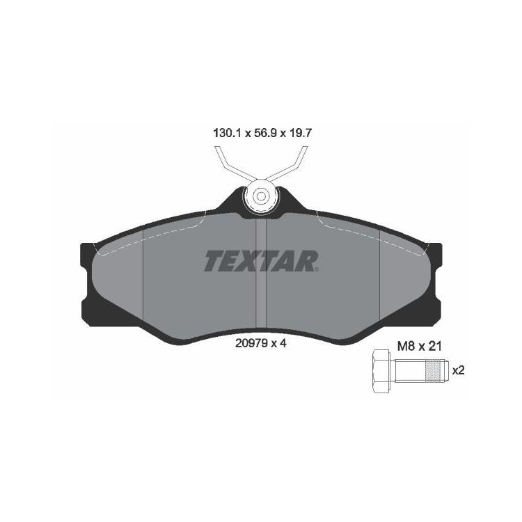 Textar Bremsscheiben + Bremsbeläge vorne VW Transporter T3