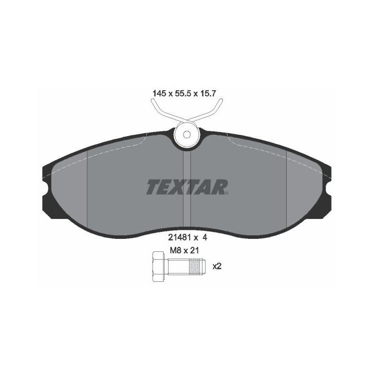 Textar Bremsbeläge vorne 2148101 bei Autoteile Preiswert