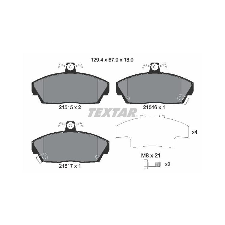Textar Bremsscheiben + Bremsbeläge vorne Honda Concerto HW Rover 400 200 Cabriolet XW RF