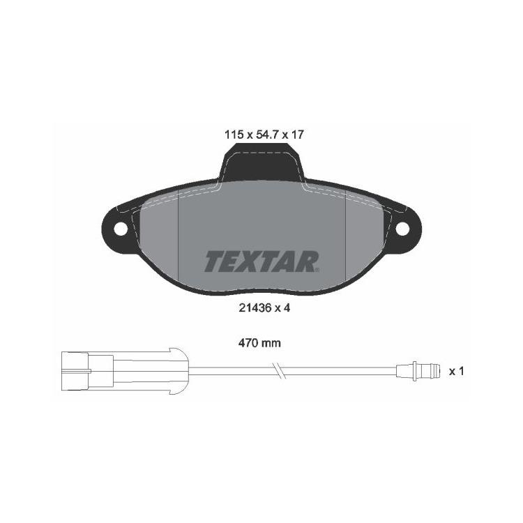 Textar Bremsbeläge vorne Fiat Punto 176 188 Lancia Y 1,1-1,7 +D mit Sensor
