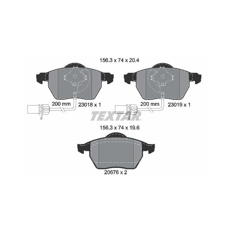 Textar Bremsscheiben + Bremsbeläge vorne Audi A4 B6 B7 A6 + Avant Seat Exeo