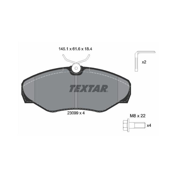 Textar Bremsbeläge vorne 2309902 bei Autoteile Preiswert