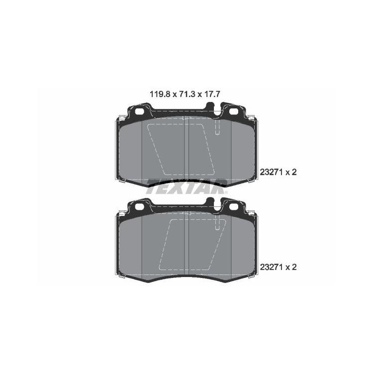 Textar Epad Bremsbeläge vorne Mercedes-Benz S M-+ Coupe Klasse SL
