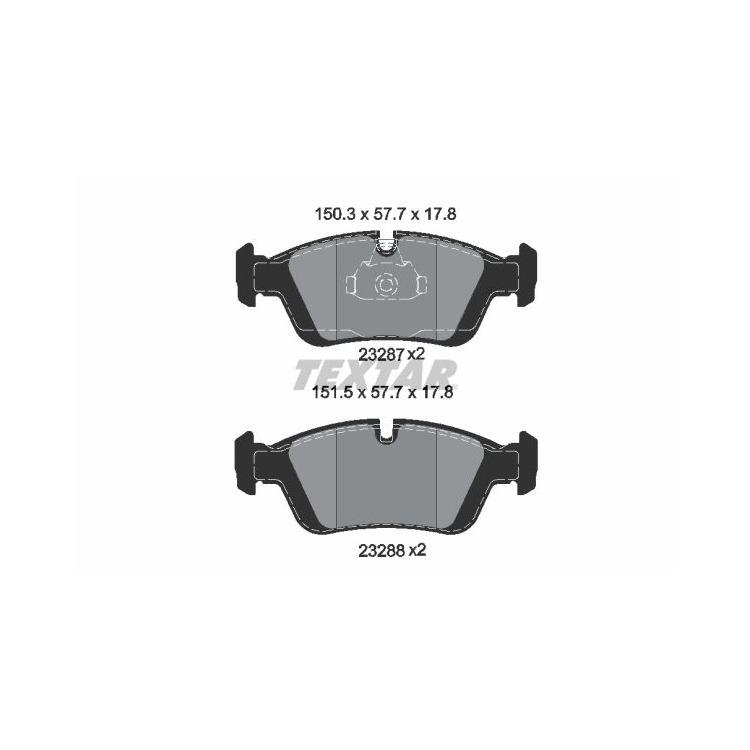 Textar Bremsbeläge vorne BMW 3er E36 Z3 Z4 ohne Sensor Teves Bremse bei Autoteile Preiswert