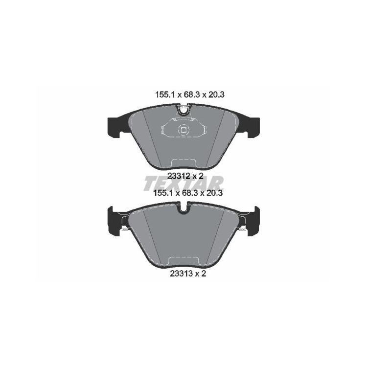 Textar Bremsscheiben + Bremsbeläge vorne BMW E60 520 523 525 530 + Toruing E63 630
