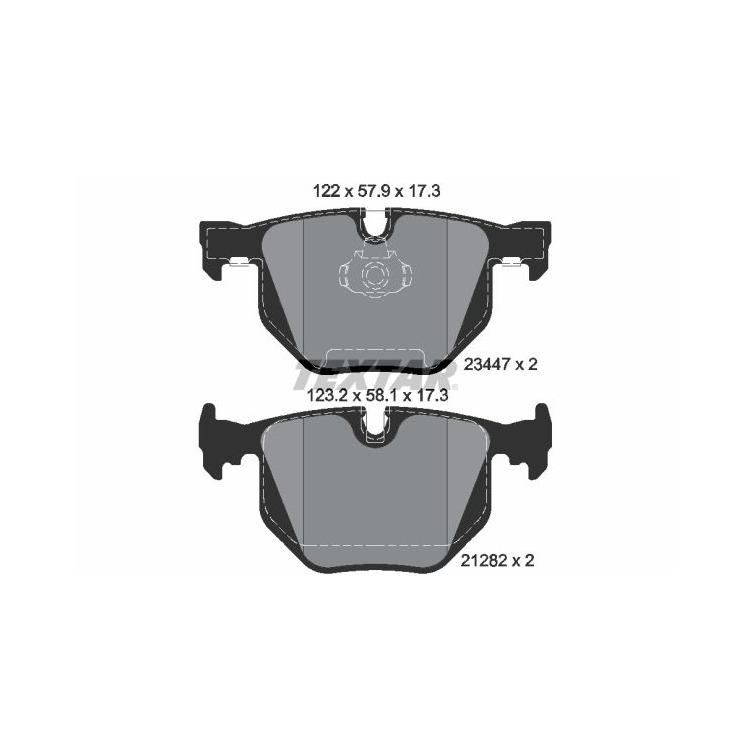 Textar Bremsbeläge hinten BMW 7 730i 730d 735i ohne Sensor Teves Bremse