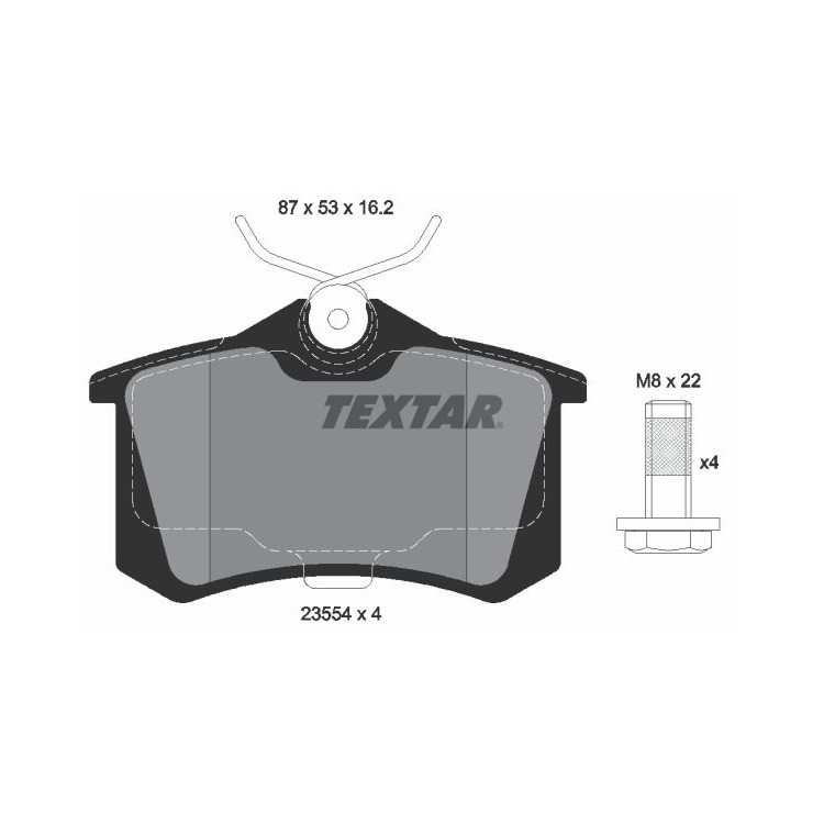 Textar Bremsscheiben + Bremsbeläge hinten