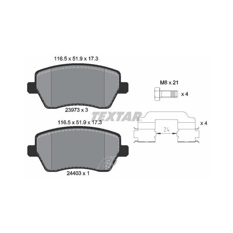 Textar Bremsscheiben + Bremsbeläge vorne Suzuki Swift III 1,6