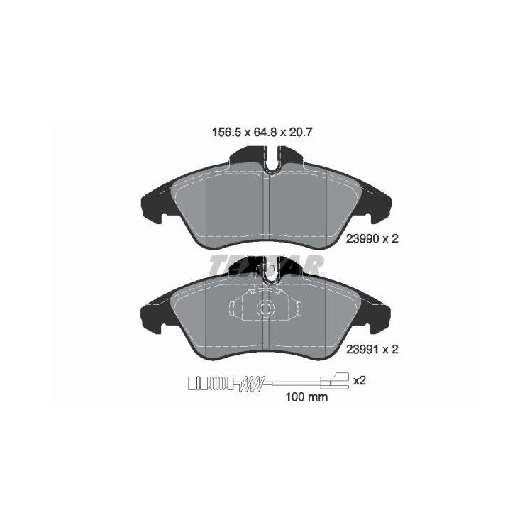 Textar Bremsscheiben + Bremsbeläge vorne Mercedes Sprinter 901 902 903 VW LT 28 46