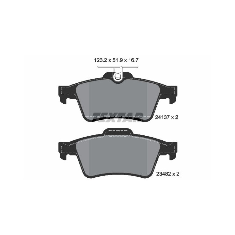 Textar Bremsscheiben Bremsbeläge hinten Mazda 3 5 1,8 2,0 2,3