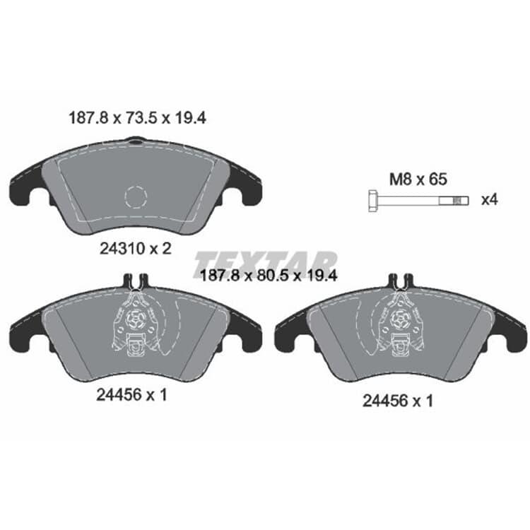 Textar Bremsscheiben + Bremsbeläge vorne Mercedes C-Klasse W204 mit AMG oder Sportpaket