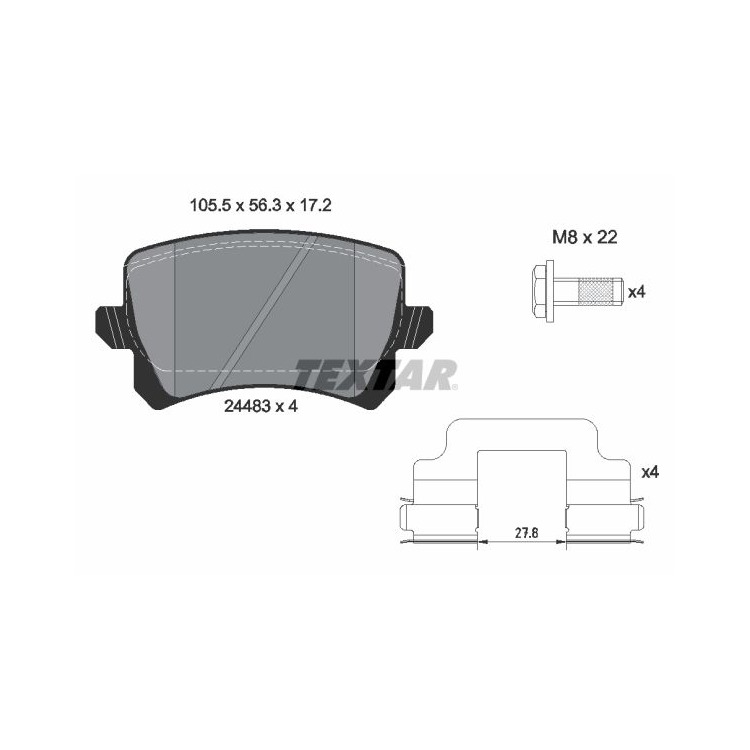 Textar Bremsscheiben + Bremsbeläge hinten VW CC Passat CC Variant 2,0 3,2 3,6