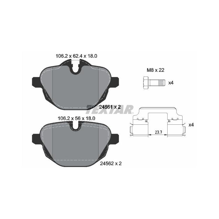 Textar Bremsscheiben + Bremsbeläge hinten BMW X3 F25 F26 ab 2010 xDrive 18 20 28 30 35