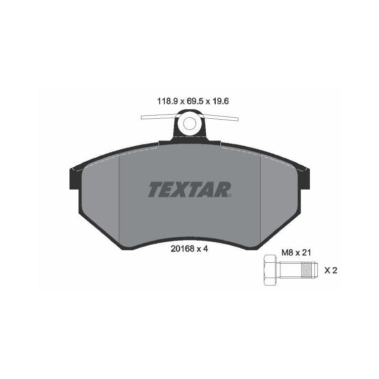 Textar Bremsscheiben + Bremsbeläge vorne für VW Passat Golf Vento Corrado Seat Toledo kaufen