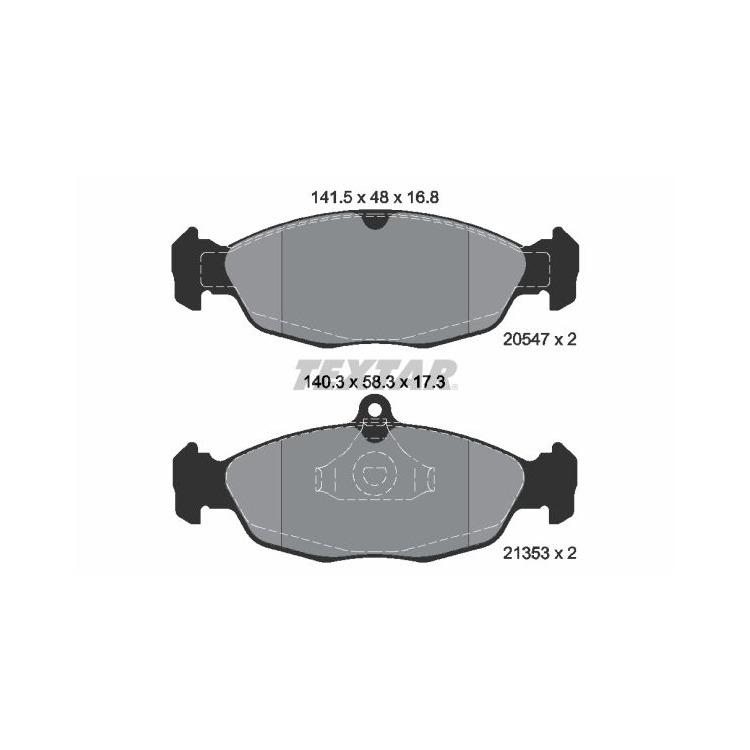 Textar Bremsscheiben + Bremsbeläge vorne Opel Astra F Corsa A B