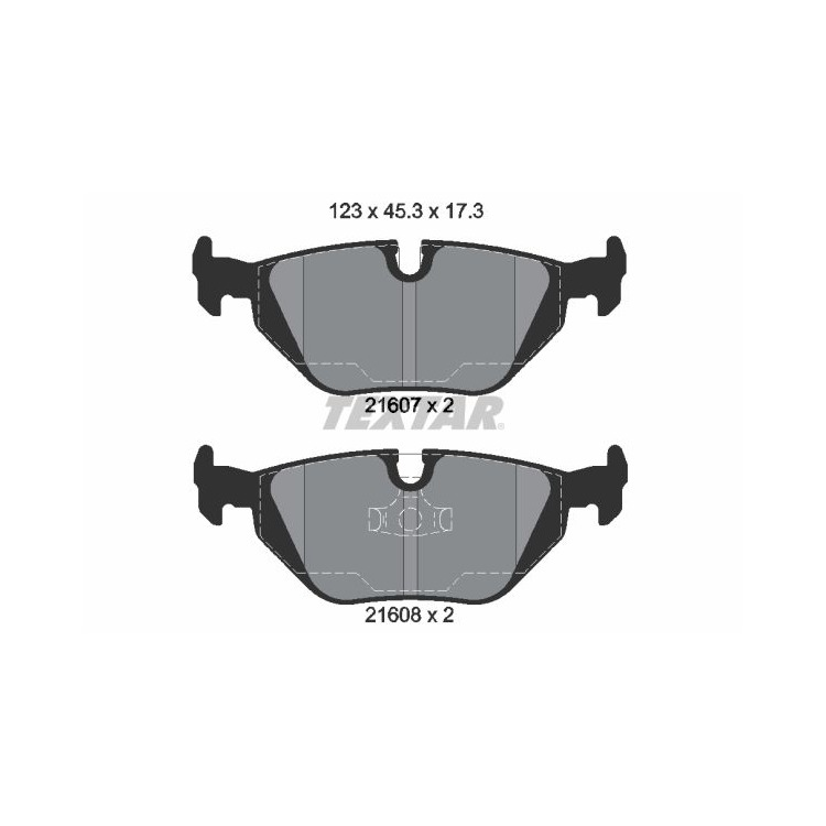 Textar Bremsbeläge hinten BMW 3 E36 Z1 Z3 ohne Sensor Teves-Bremse bei Autoteile Preiswert