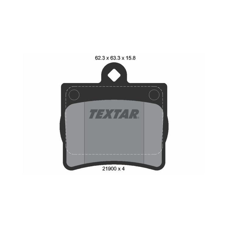 Textar Bremsbeläge hinten Mercedes-Benz C E -Klasse ohne Sensor Teves-Bremse