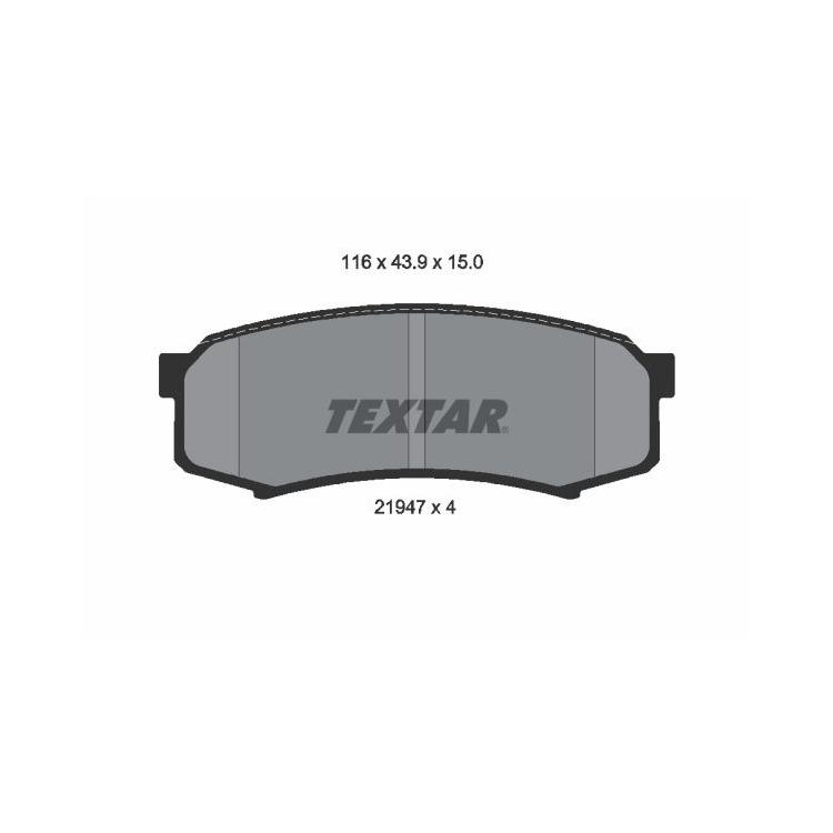 Textar Bremsbeläge hinten Mitsubishi Pajero IV Toyota Land Cruiser 2,8 - 4,5 bei Autoteile Preiswert