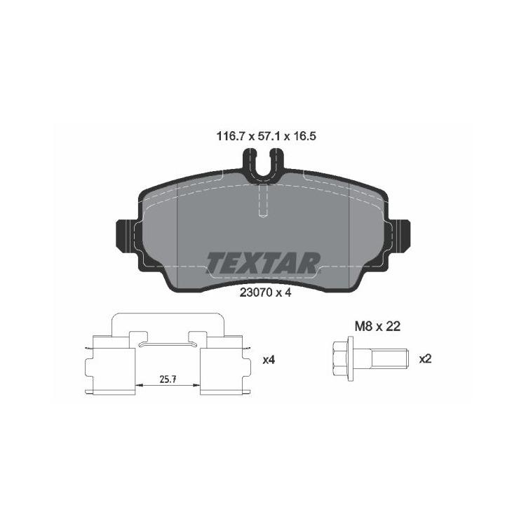 Textar Bremsscheiben + Bremsbeläge vorne Mercedes A-Klasse W168 A 140 160 170 + CDI