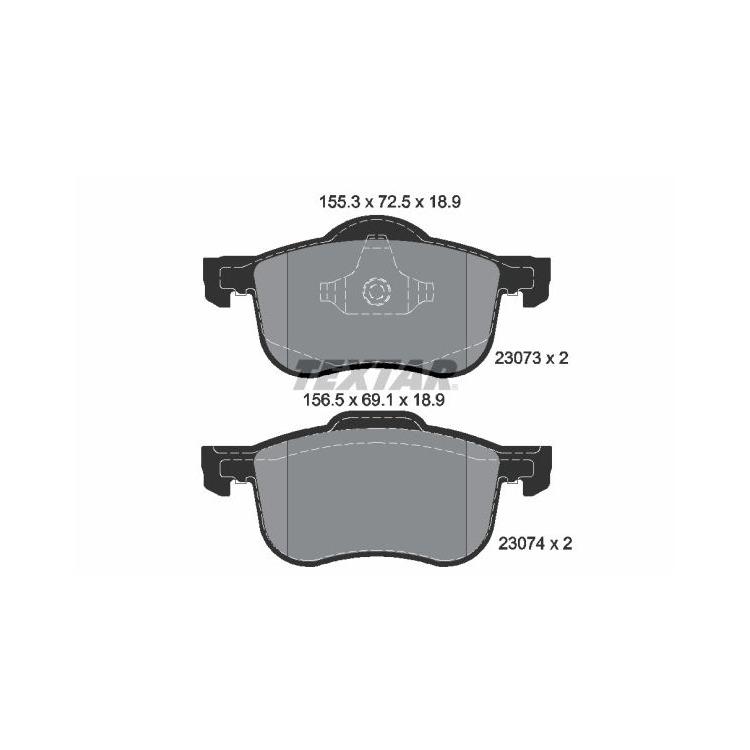 Textar Bremsbeläge vorne Volvo S60 S80 V70 XC70 2,0-3,0 ohne Sensor Teves bei Autoteile Preiswert