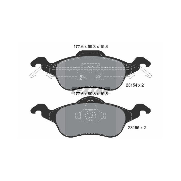 Textar Bremsscheiben + Bremsbeläge vorne Ford Focus