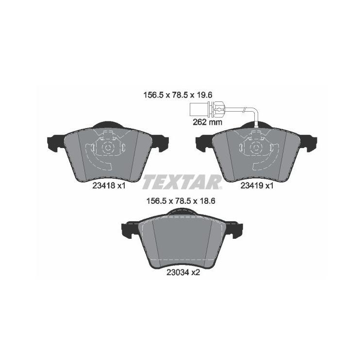Textar Bremsscheiben + Bremsbeläge vorne Ford Galaxy Seat Alhambra VW Sharan 1,9 2,0