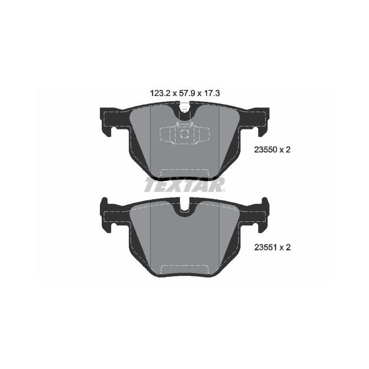 Textar Bremsscheiben + Bremsbeläge hinten für BMW E90 + Touring 320 325 330 335 kaufen