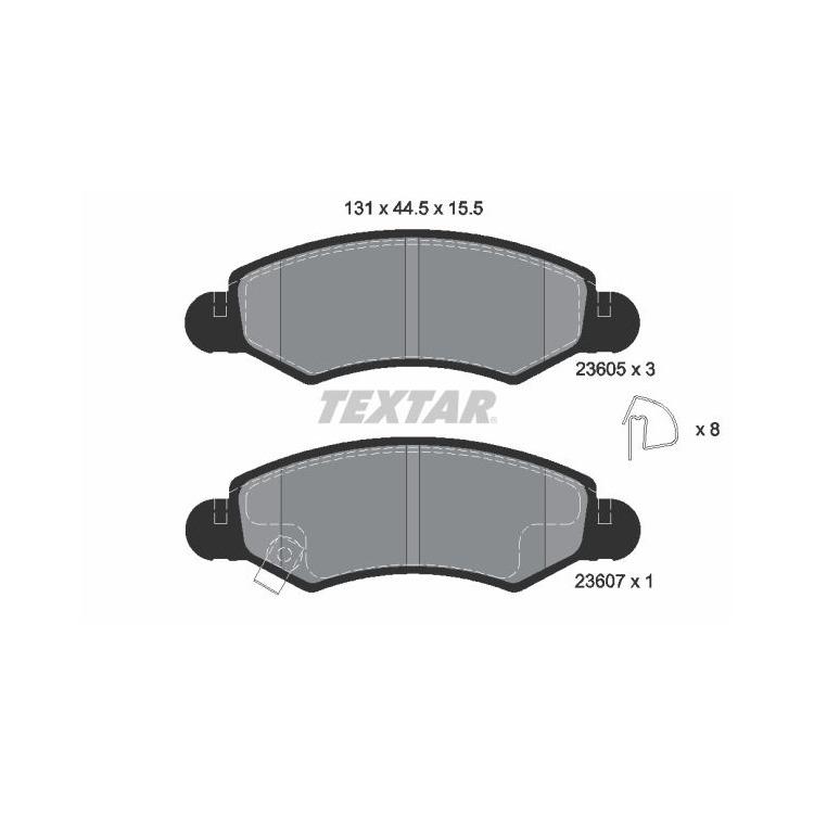 Textar Bremsbeläge vorne Opel Agila Subaru Justy III Suzuki Ignis II Wagon