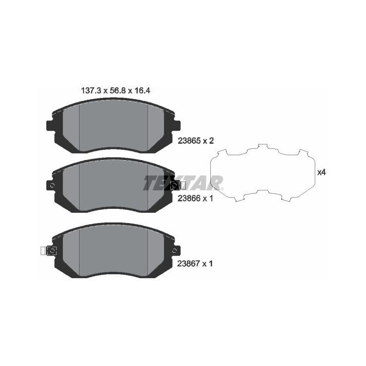 Textar Bremsbeläge vorne Subaru Forester Impreza Legacy IV V Outback +D AWD bei Autoteile Preiswert